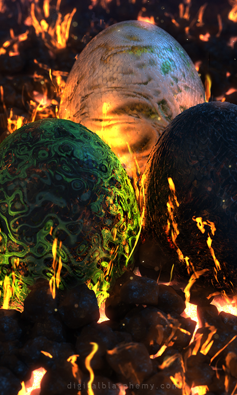 Digital Blasphemy 3d Wallpapers Free Fire Made Flesh At