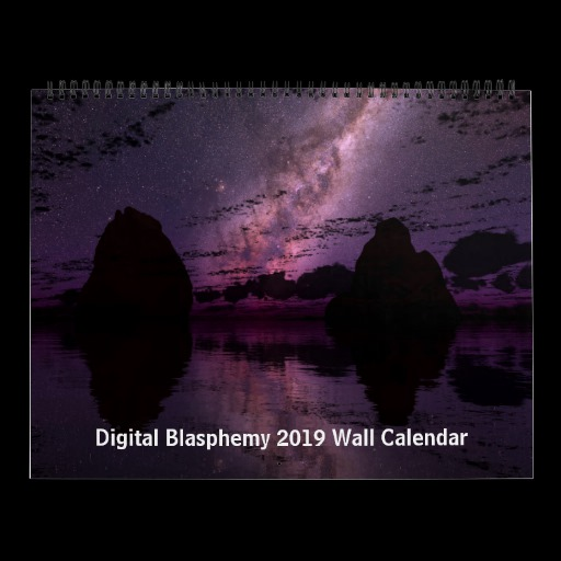 Digital Blasphemy 2019 Wall Calendar