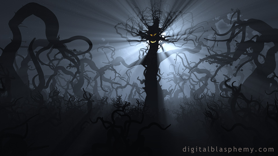 Digital Blasphemy 3D Wallpaper: Animus    Happy Halloween 2017 By Ryan Bliss