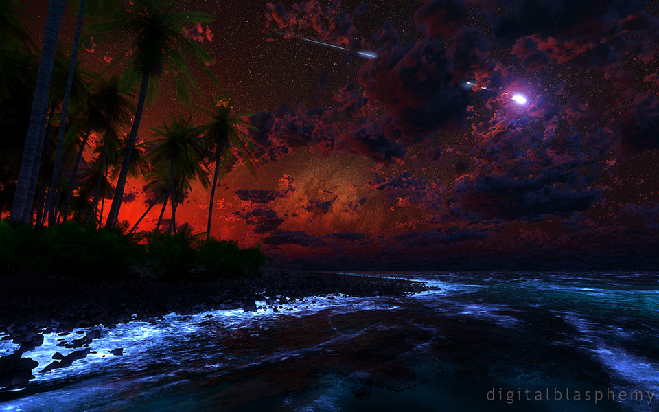 Digital Blasphemy 3D Wallpaper: Nightfall by Ryan Bliss