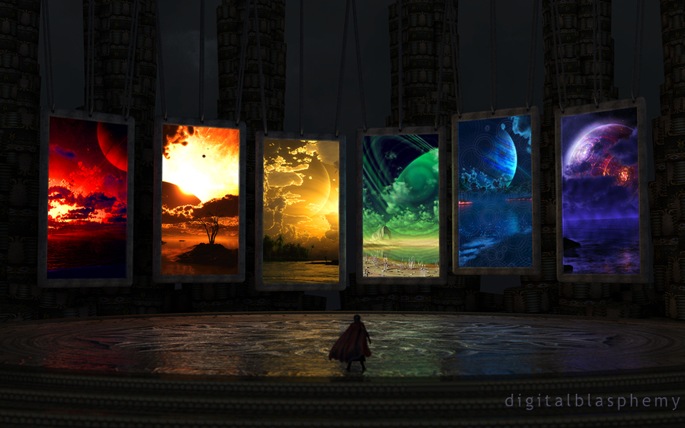 digital blasphemy 3d wallpaper portals by ryan blissFor3 Portals