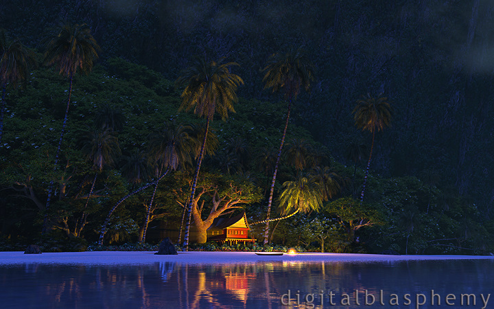 A Moonlit Night in Paradise