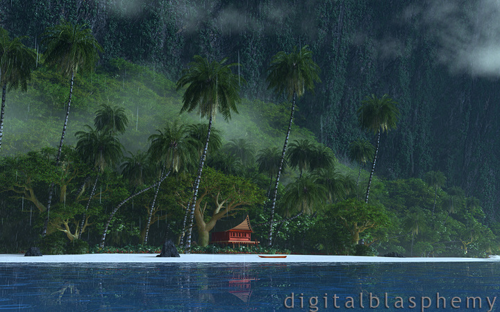 A Rainy Day in Paradise