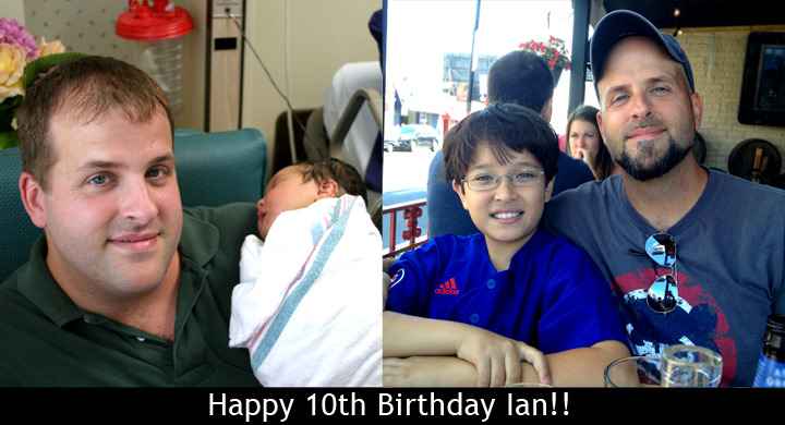 Happy 10th Birthday Ian!