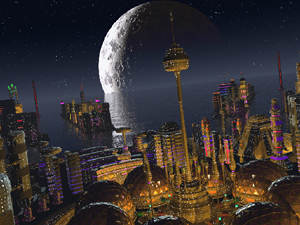 Spire City by Night
