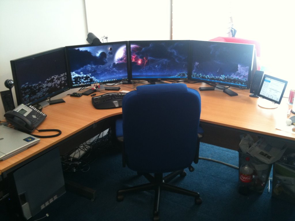 Richard Taylor's Quad-Screen Setup