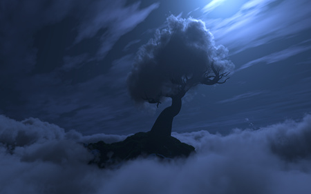 Cloud Tree (Night)